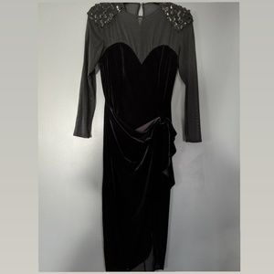 Vintage shear black dress